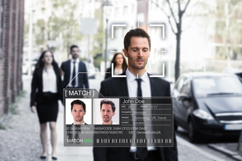 Illustration d'une technologie de reconnaissance faciale