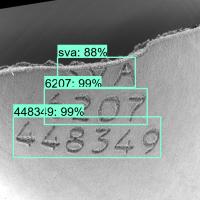 Exemple OCR sur gravures laser